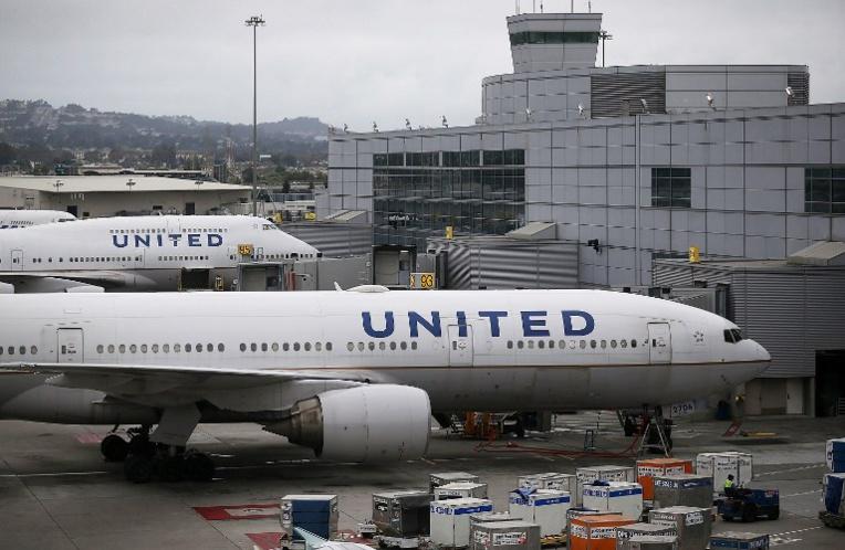 Avions de United Airlines sur le tarmac du San Francisco International Airport. (Photo : JUSTIN SULLIVAN / GETTY IMAGES NORTH AMERICA / AFP)