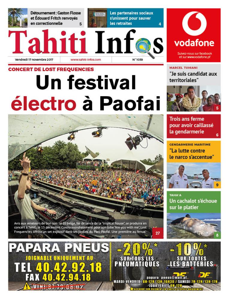 TAHITI INFOS N°1039 du 17 novembre 2017