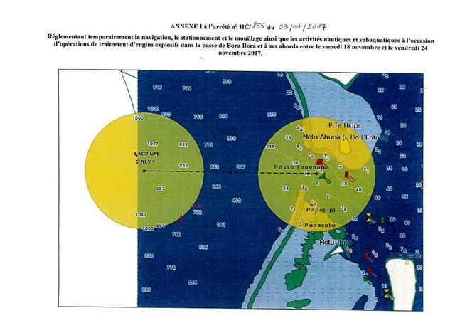Munitions découvertes à Bora Bora : l'opération de neutralisation démarre ce week-end