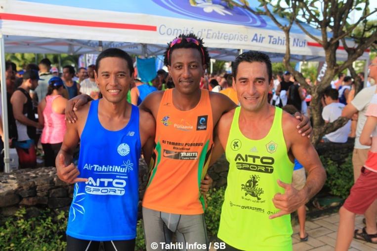 Le trio gagnant, Samuel Aragaw, Cédric Wane et Teiva Izal