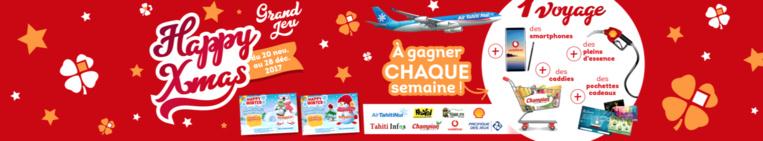 Grand Jeu Happy Xmas: gagnez de superbes cadeaux avec la Pacifique des jeux et Tahiti Infos