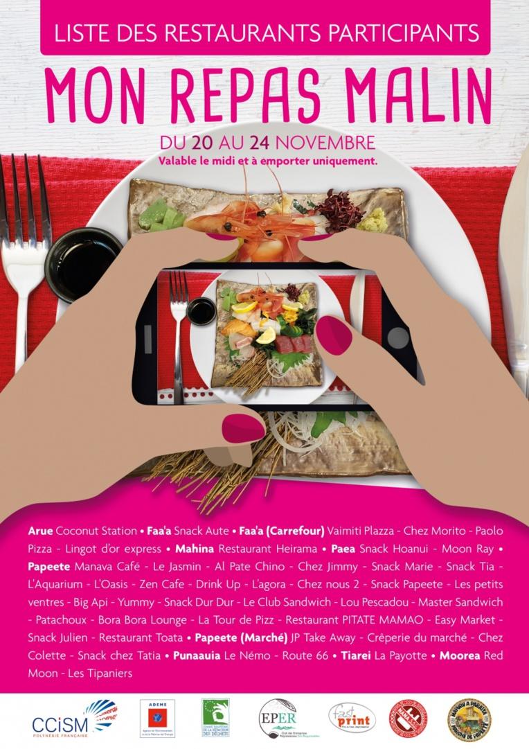 La liste des restaurants participants.