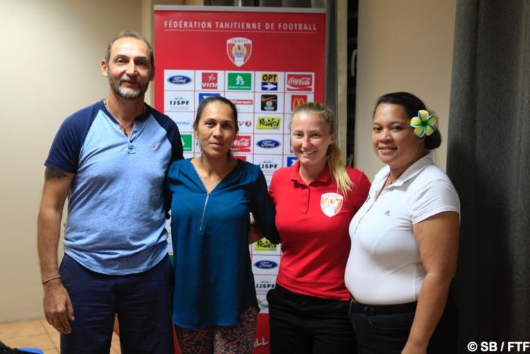 Patrice Flaccadori, Angela Taiarui, Stéphanie Spielmann et Vaihere Toareinui