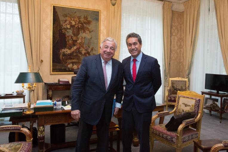 Marcel Tuihani reçu par le président du Sénat