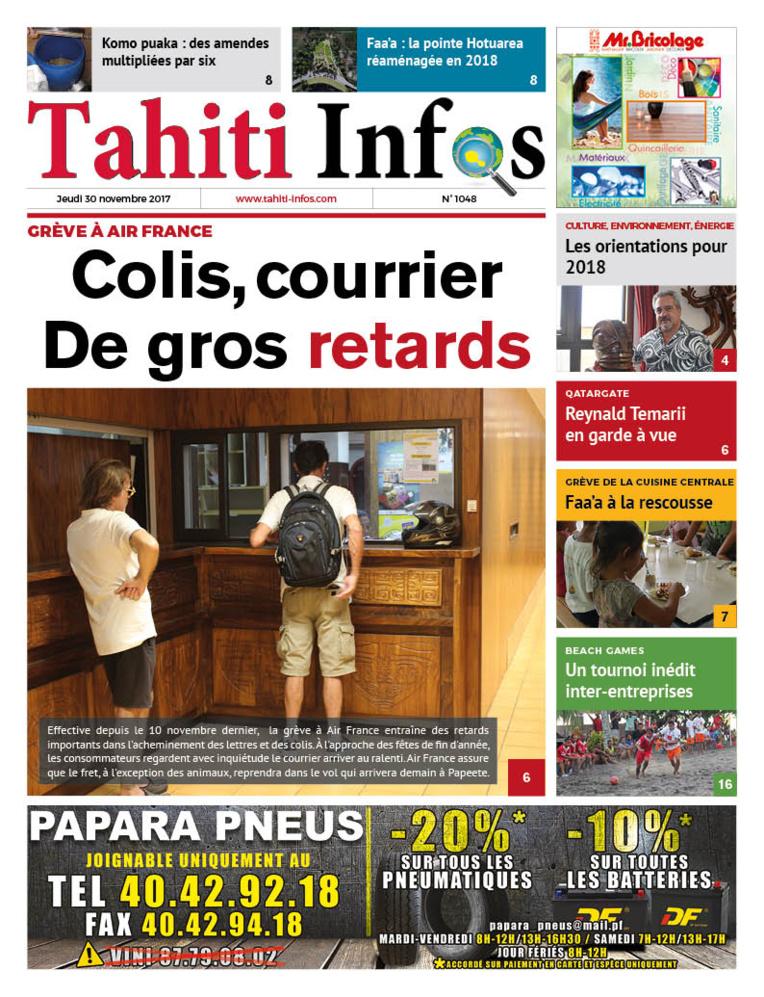 TAHITI INFOS N°1048 du 30 novembre 2017