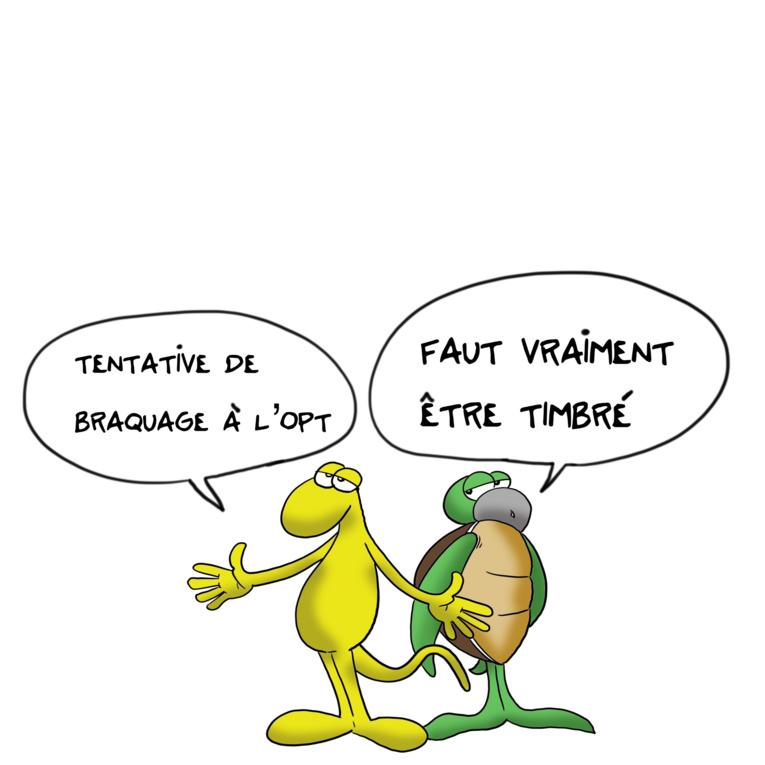 """"""" Tentative de braquage à l'OPT """" par Munoz"""