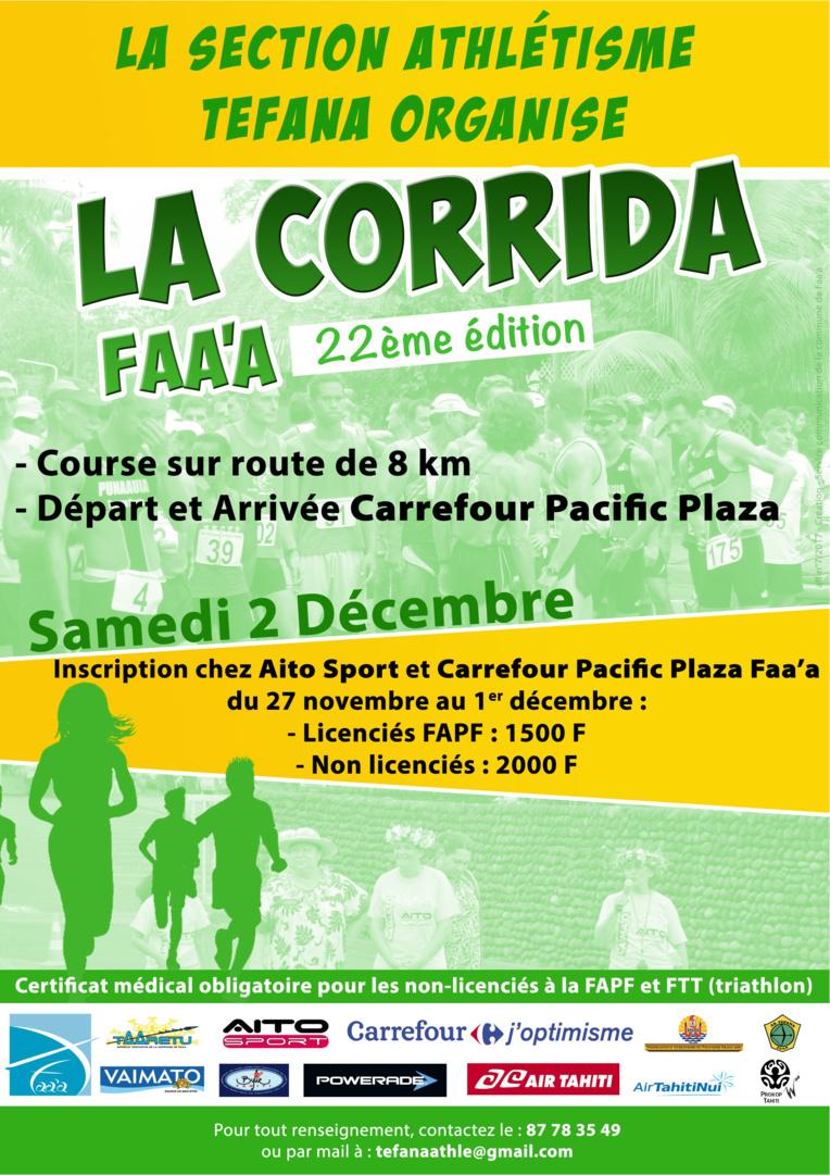 La 22ème édition de la corrida à Faa'a se fera ce samedi