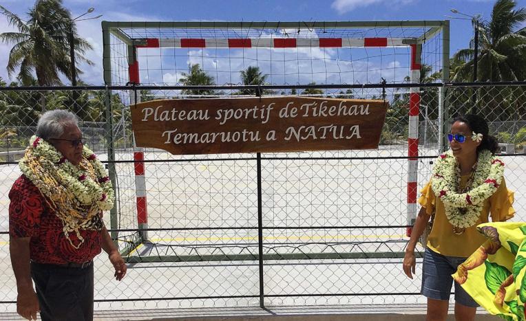 Inauguration du plateau sportif de Tikehau