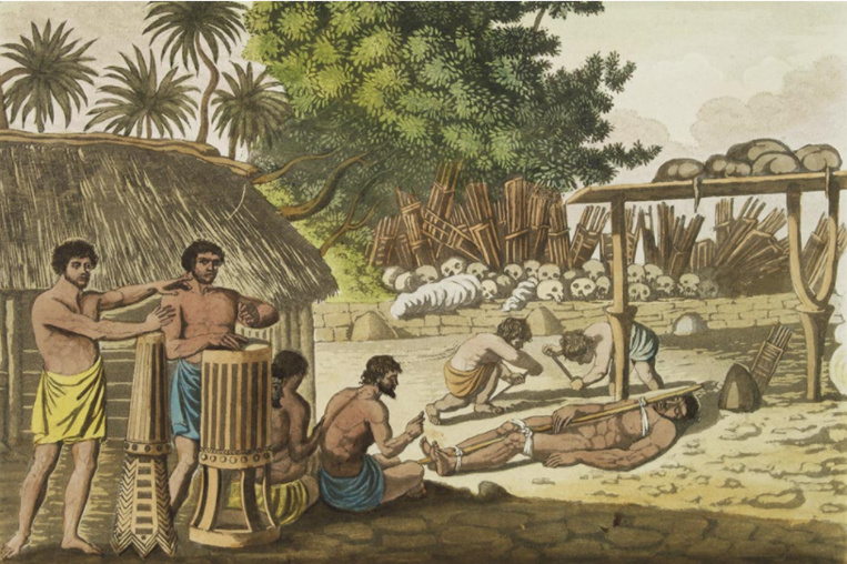 Sacrifices humains à Tahiti