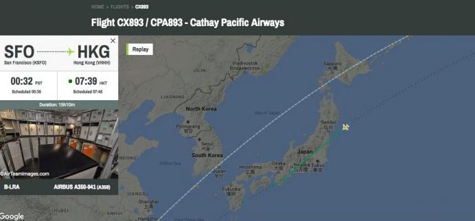 Un équipage de Cathay Pacific a vu le missile nord-coréen faire sa rentrée dans l'atmosphère