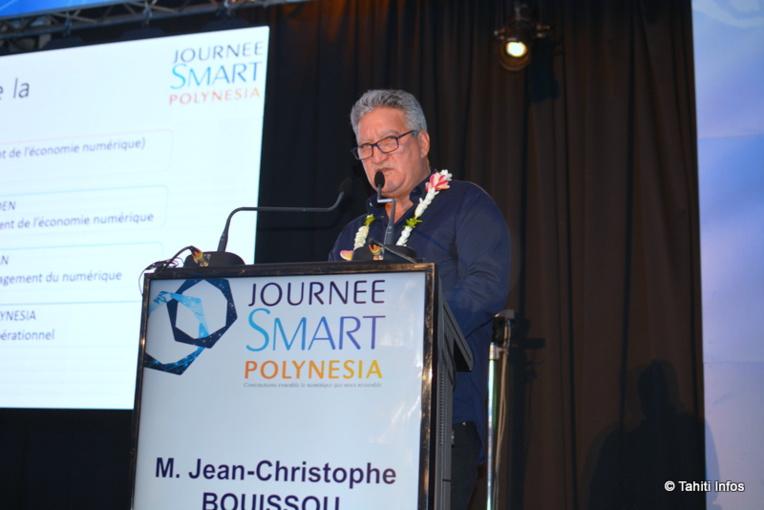 Le ministre du Numérique Jean-Christophe Bouissou a présenté les 70 actions prévues dans le plan Smart Polynesia