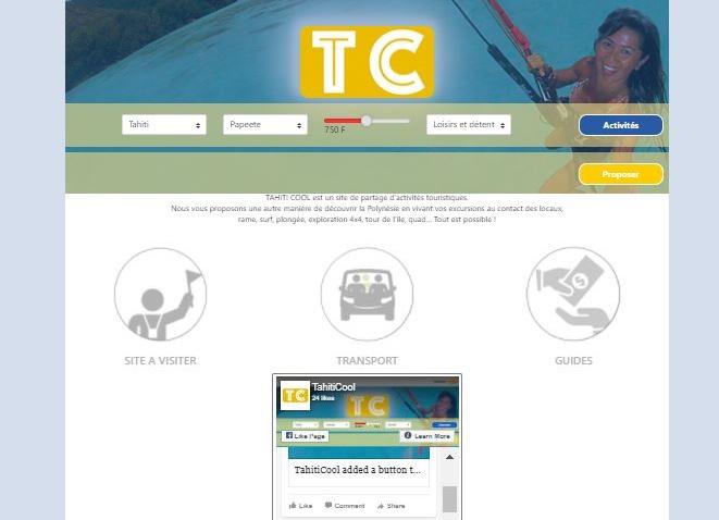 Le site Tahiti Cool est en ligne à l'adresse www.tahiticool.ovh.