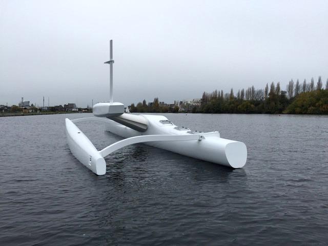 Le drone Sphyrna, inspiré de la pirogue polynésienne, a été développé par la start-up française Seaproven. Il pourrait bientôt nous rendre visite.
