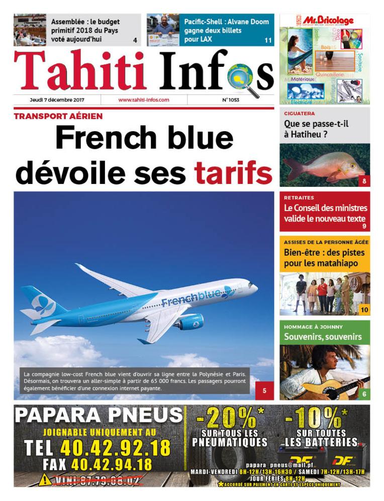 TAHITI INFOS N°1053 du 7 décembre 2017