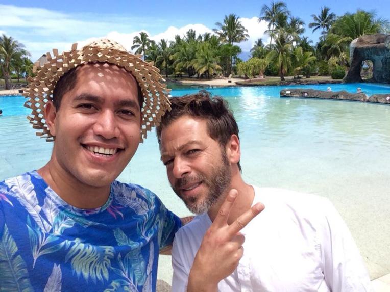 Avec Christophe Maé.