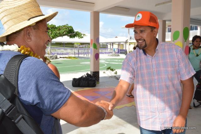 Les présidents des fédérations sportives de Tahiti sont arrivés ce jeudi, à Makemo.