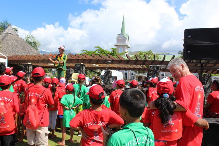 Ils étaient nombreux les enfants samedi à rire et à s'émerveiller en regardant les différents spectacles programmés pour ce premier opus du Noël des solidarités.