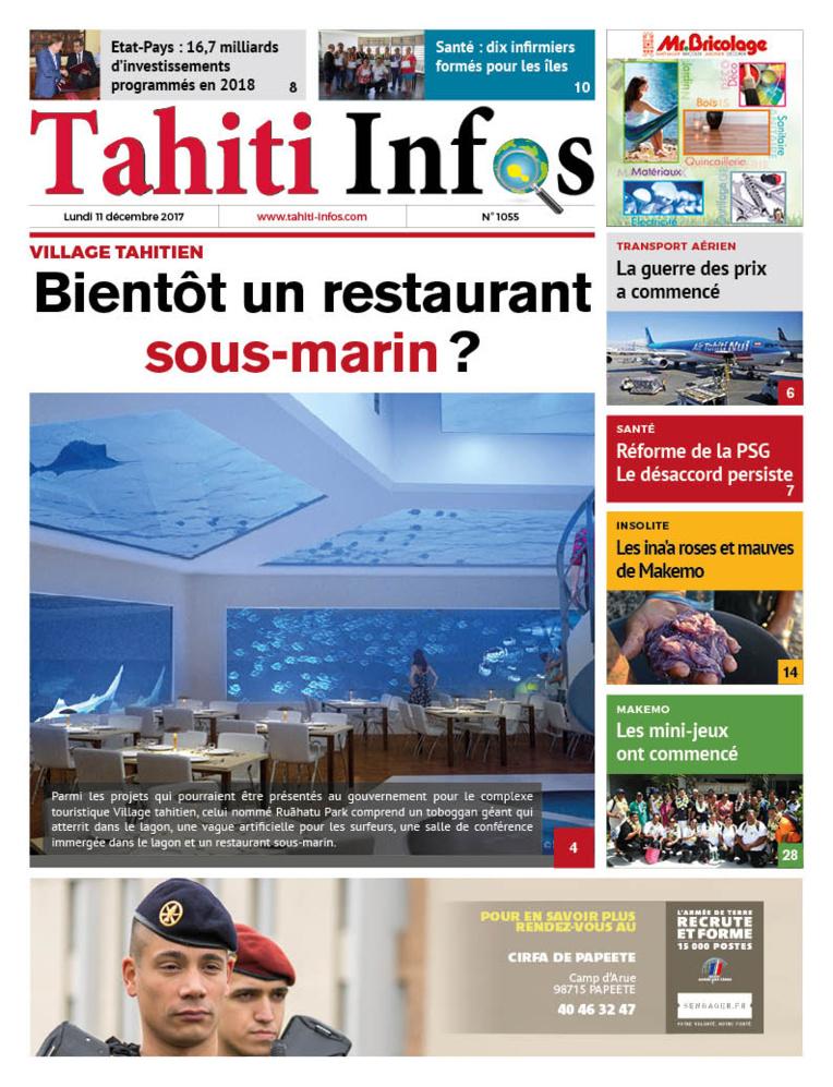 TAHITI INFOS N° 1055 du 11 décembre 2017