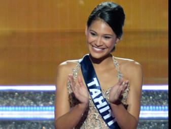 Hinarere Taputu, Miss Tahiti 2014, a terrminé 1ère dauphine de Miss France 2015.