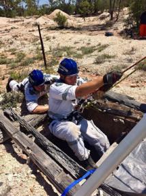 Une Australienne passe deux jours au fond d'un puit de mine