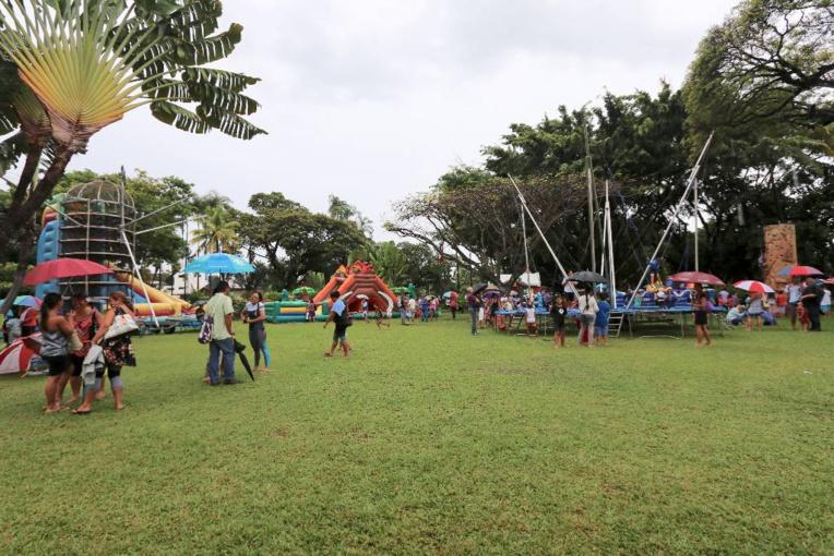 Plusieurs activités étaient mises en place, vendredi, dans les jardins de la résidence du Haut-commissaire.