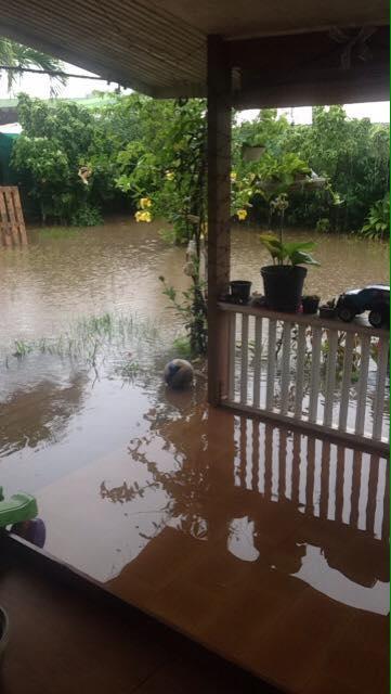 De fortes pluies ont frappé la Société et les Australes (photo facebook).