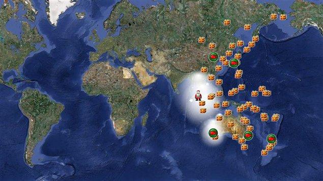 Le site qui permet de traquer le Père Noël en temps réel