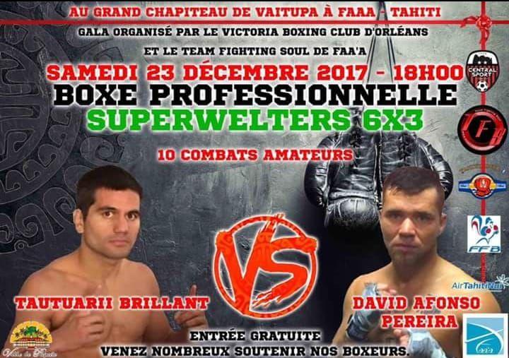 Boxe Professionnelle – Tautu Brillant vs David Pereira : C'est ce soir et c'est gratuit