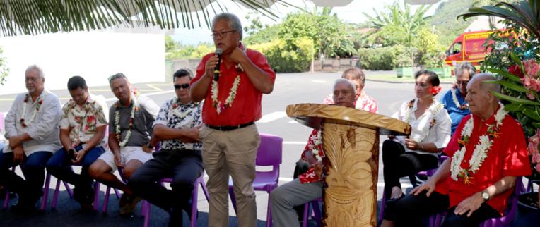 L'inauguration de la route s'est tenue jeudi dernier, en présence du maire de Paea et du ministre de l'Equipement.