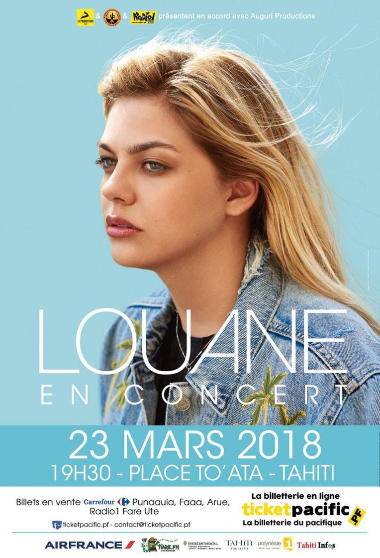 Louane en concert à To'ata au mois de mars