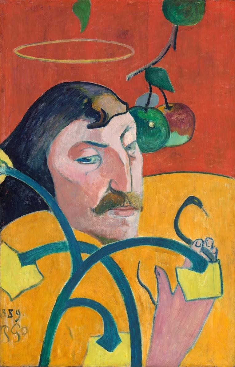 Autoportrait au Nimbe. Paul Gauguin 1889 (National Art Gallery, Washington DC)