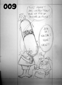 -Munoz a déjà présenté des croquis au crayon à Marcel Tuihani.