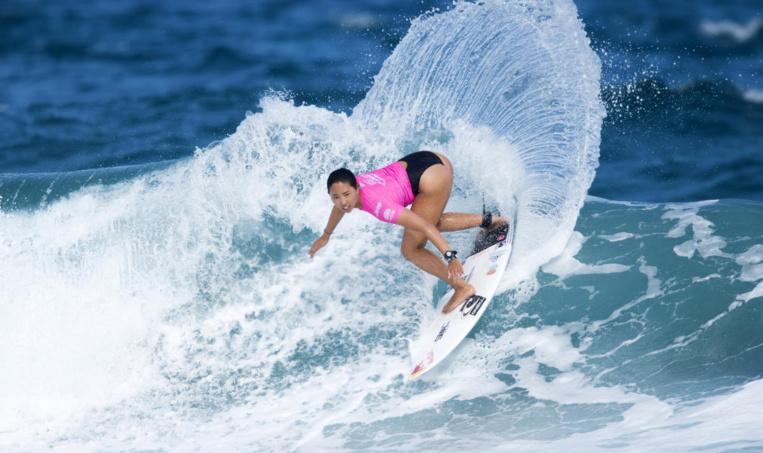 Vahine a dû affronter les meilleures surfeuses junior du monde