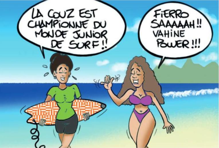 """"""" Fierro championne du monde Pro junior de surf """" par Munoz"""