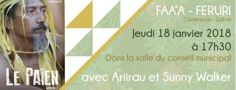 Faa'a Feruri,un débat autour des rites et croyances polynésiens le 18 janvier