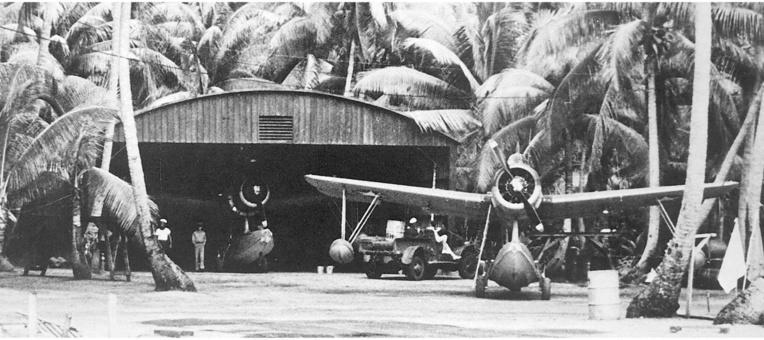 Un unique appareil, son hangar et son personnel furent installés sur la côte nord de Tahaa. Ce dispositif devait permettre à l'avion de descendre à Tahiti pour attendre les ordres en cas d'attaque de Bora Bora.