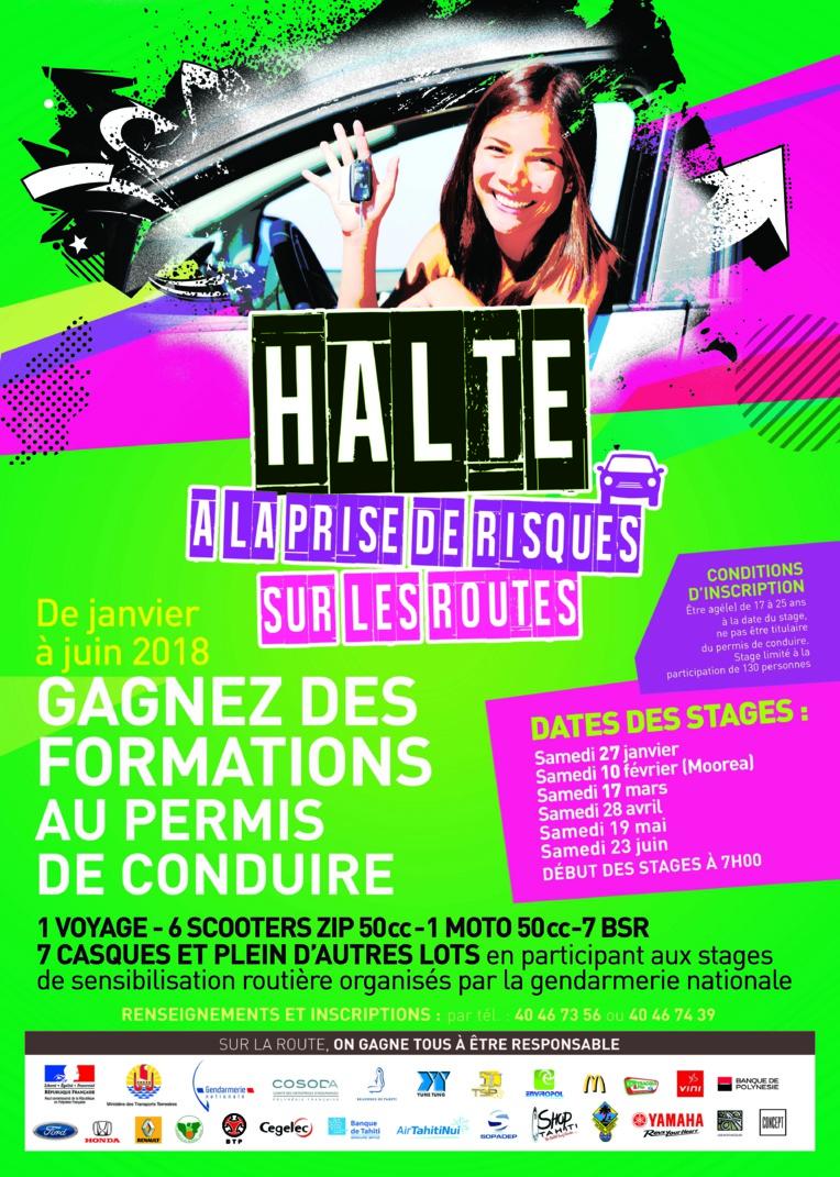 La 13e édition d'Halte à la prise de risques commence le samedi 27 janvier