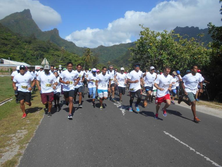 90 personnes ont participé à la course Run & Bike organisée par la municipalité de Moorea-Maiao, ce samedi.