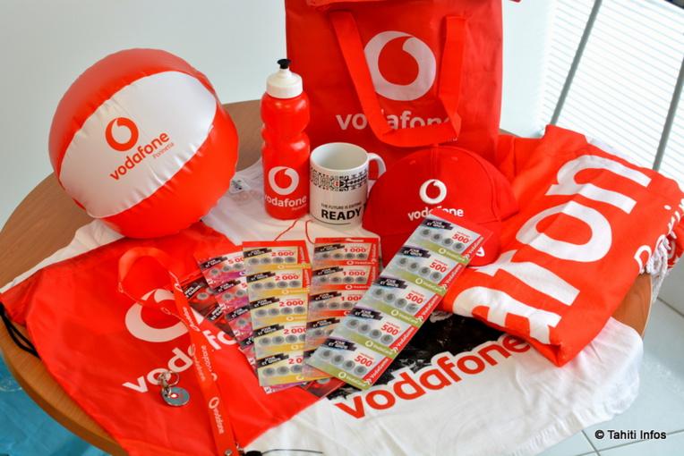 Chaque recharge Vodafone vous offrira l'occasion de gagner l'un de ces lots, dont des smartphones d'une valeur de 80 000 Fcfp !