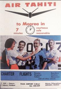 Les Ailes des îles : 1968 Air Moorea et Air Tahiti transporteurs privés