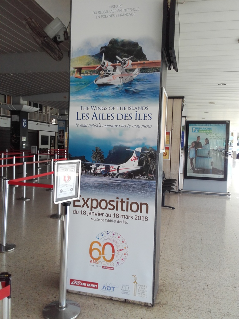 L'aéroport de Tahiti Faa'a est partenaire de l'exposition Les Ailes des îles.