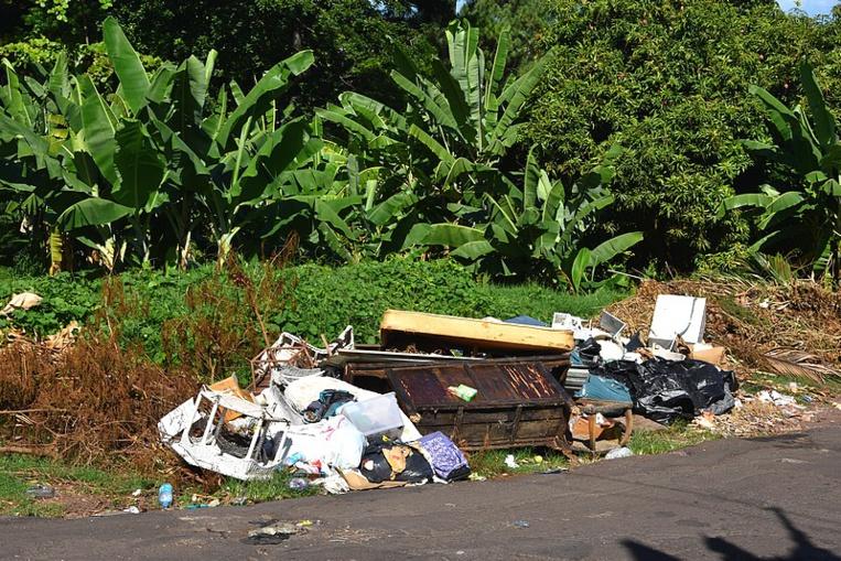 La commune de Faa'a demande aux habitants de ne pas déposer leurs déchets pêle-mêle sur le bord de la route.