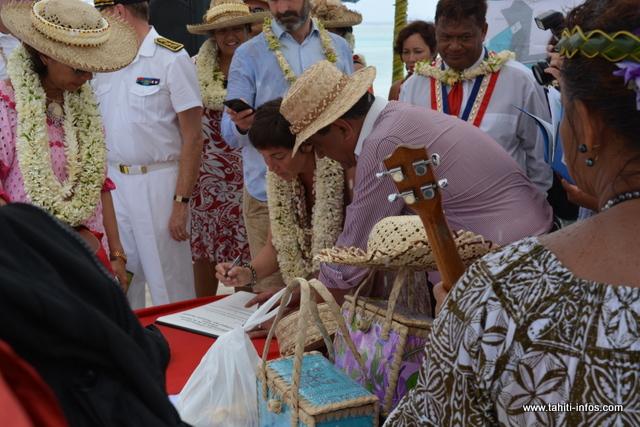 La pose de la première pierre s'est faite jeudi, en présence de la ministre des Outre-mer, Annick Girardin.