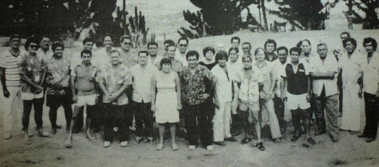 Le conseil municipal de Faa'a en 1983.