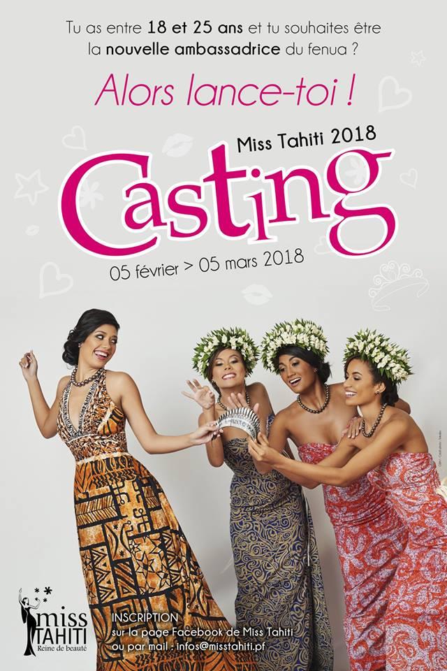 Le Casting pour Miss Tahiti 2018 est ouvert