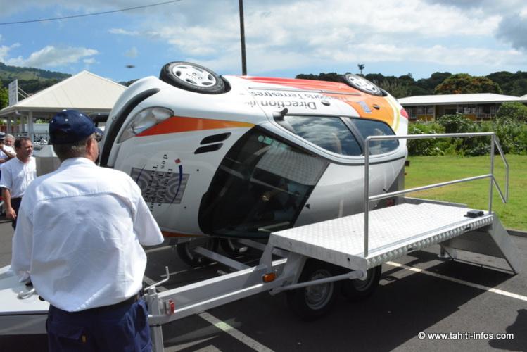 Durant ces formations, le jeune public pourra découvrir notamment les dégâts de la voiture tonneau.