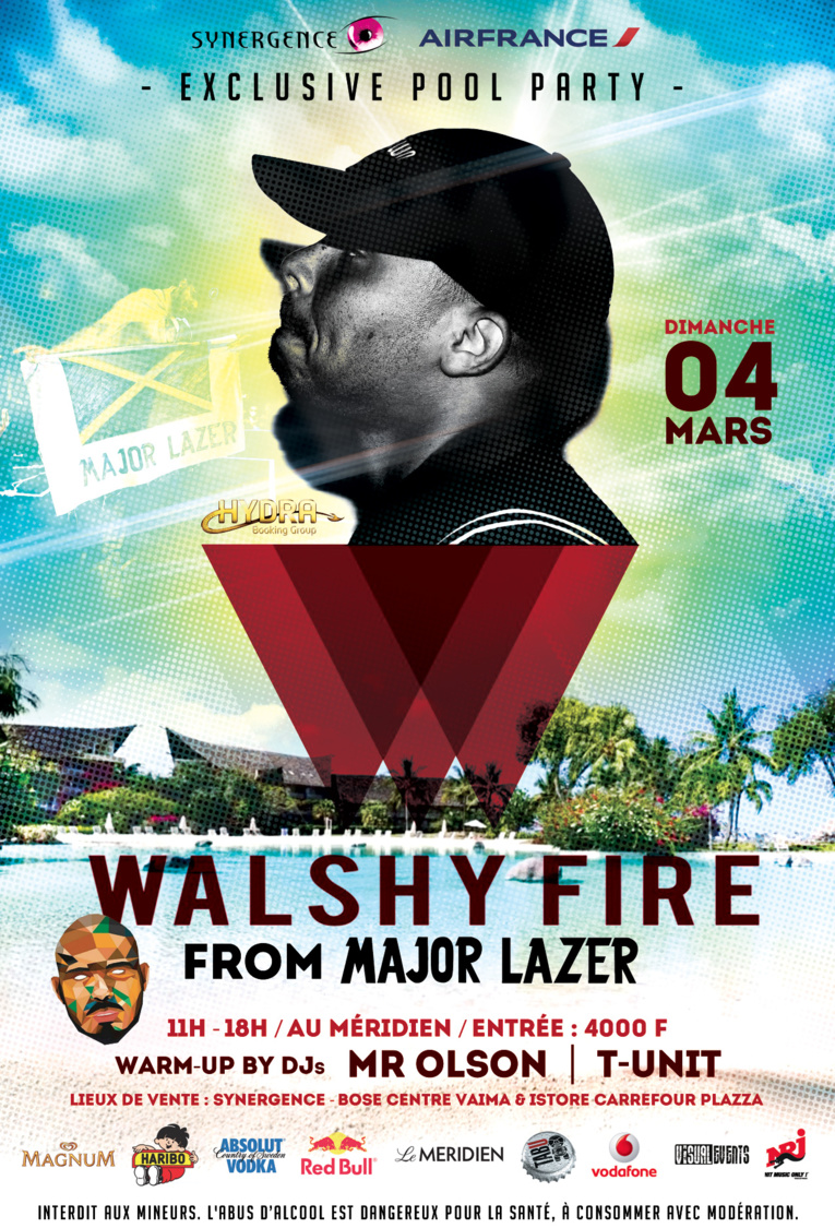 """Pool party"" avec Walshy Fire, le DJ de Major Lazer !"