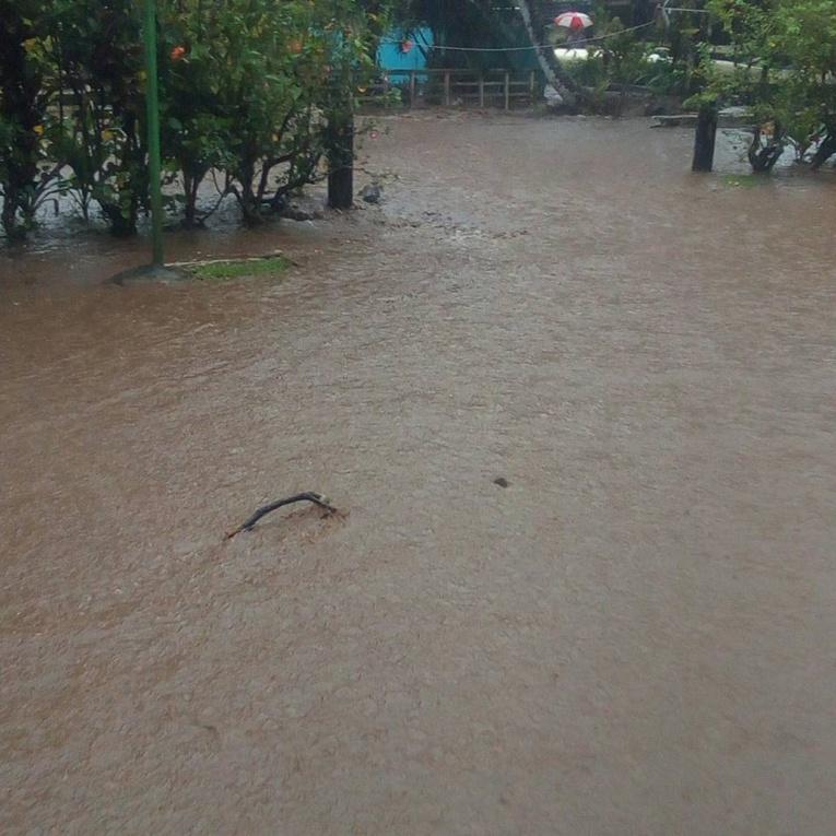 À Tiarei, plusieurs habitations ont été inondées. (Photo amateur facebook)