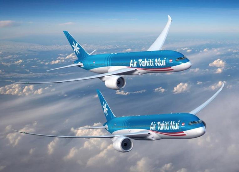Le premier Dreamliner Boeing 787-9 aux couleurs du tiare sera livré en octobre, juste à temps pour la grande fête des 20 ans de la compagnie aérienne, qui seront célébrés le 20 novembre 2018. Un autre devrait suivre autour de la fin de l'année, et à terme ATN va remplacer toute sa flotte par ces modèles. (Crédit photo : Boeing)
