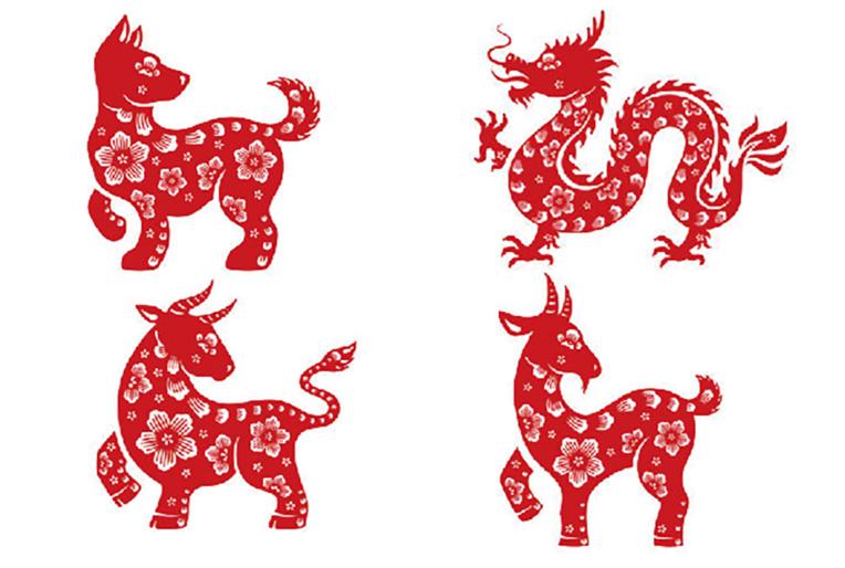 Le chien, le dragon, le buffle et la chèvre devront être vigilants en 2018.